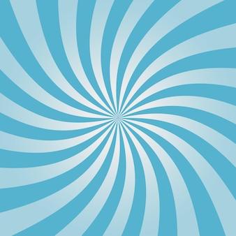 渦巻く青いサンバーストパターンコミックの背景の放射状のデザイン渦の背景