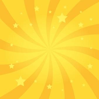 Закрученный радиальный фон звезд