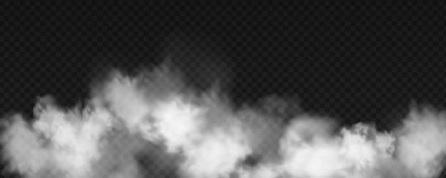 Swirling white fog