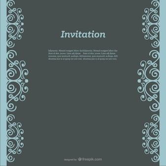 渦巻き模様の招待状のデザイン