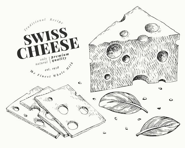 Swiss cheese illustration.