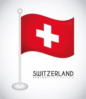 스위스 국가 국기 아이콘