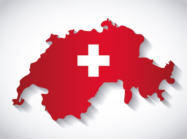 Swiss country map icon