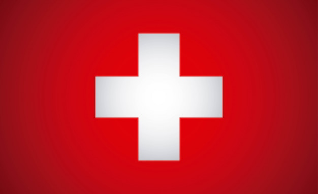 Swiss design over red background vector illustration