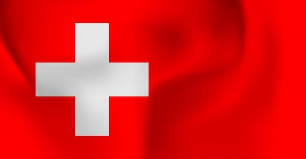 Швейцарский счастливый национальный день баннер. швейцарский флаг. день независимости.