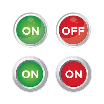 Switch on off button