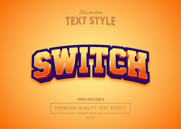 Switch text effect
