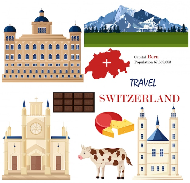 Switzerland architecture and symbolistic elements