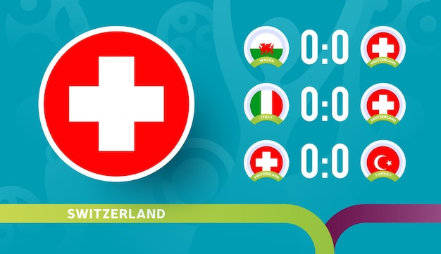 스위스 대표팀 2020년 축구 선수권 대회 결승전 일정