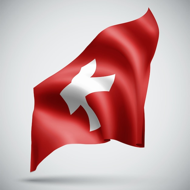 Switzerland, vector 3d flag isolated on white background