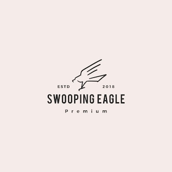Swooping eagle logo doodle vector icon illustration