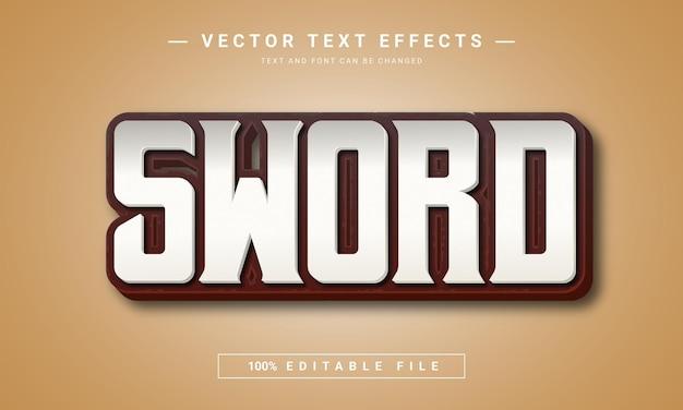 Редактируемый текстовый эффект меч