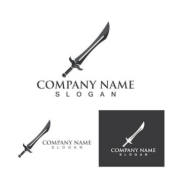 剣のロゴとシンボルベクトルテンプレートeps10