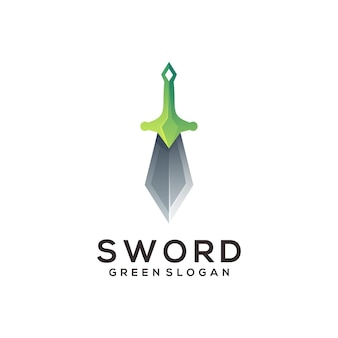 Sword logo colorful gradient