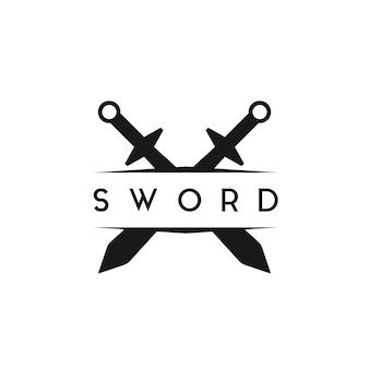 Меч дизайн логотипа вдохновение