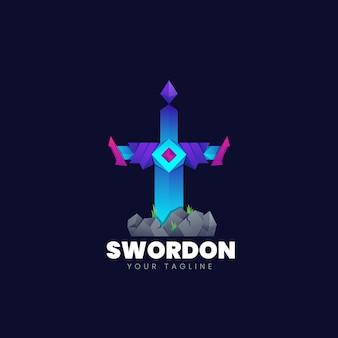 Sword logo template design