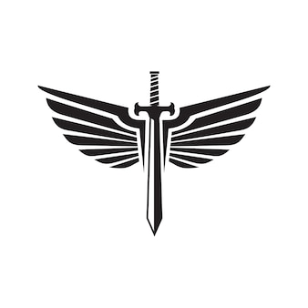 Sword and swing logo