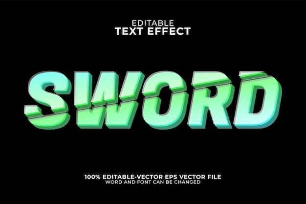 Sword text effect