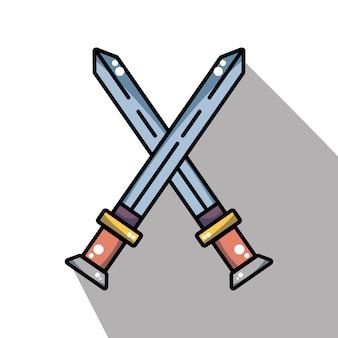 中世の要素軍の剣