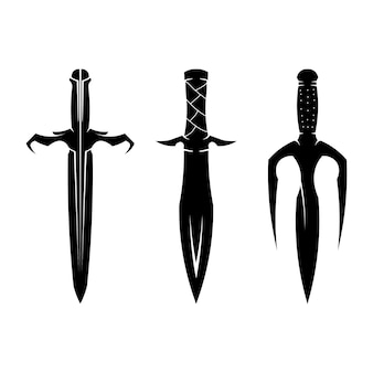 Swords silhouette collection