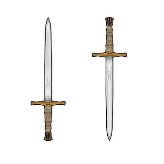 Swords vector hand drawing