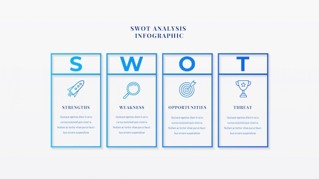 Swot analysis business infographic template