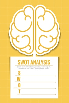 Swot analysis infographic vector