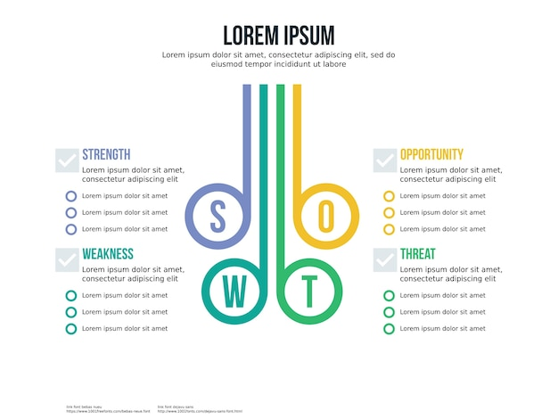 Swot element and presentation template