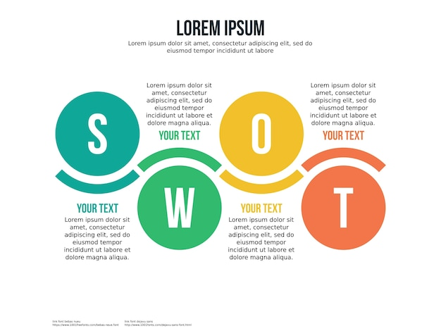 Swot globe infographic element and presentation template