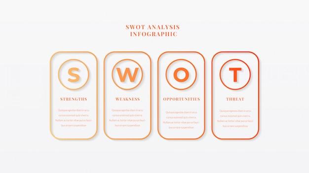 Swot分析ビジネスインフォグラフィックテンプレート