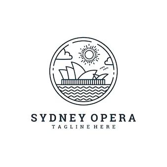 Сиднейский оперный театр линии логотип