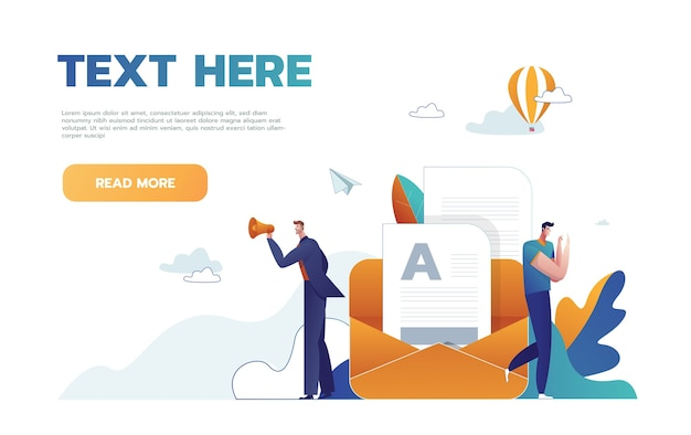 Syllabus task done concept people with megaphone, mobile phone nearby giant clipboard checklist and check mark ticks flat style design vector illustration isolated.