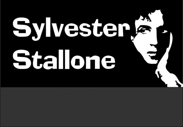 Sylvester stalone, simple drawing