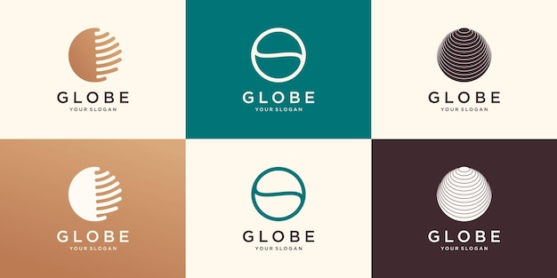 シンボル抽象的な地球のロゴのアイコンのデザイン。
