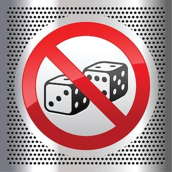 Symbol dice on a metallic perforated sheet