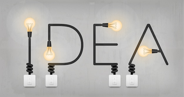 Symbol industry creative abstract bulb message
