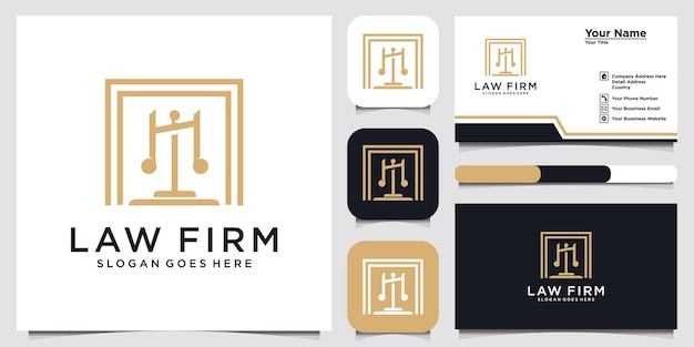 Symbol lawyer attorney advocate template linear style shield sword law legal firm security company