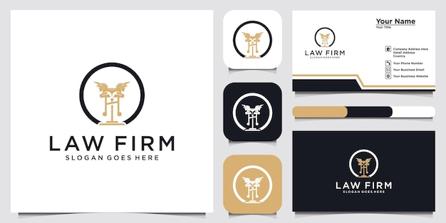 Symbol lawyer attorney advocate template linear styleshield sword law legal firm security company