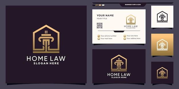 집 스타일 및 명함 디자인 법률 로고 템플릿의 상징 premium 벡터