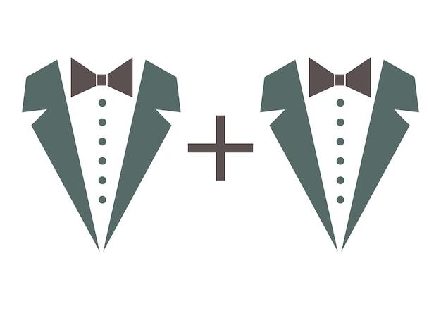 남성 사랑과 결혼의 상징입니다. 벡터 최소한의 그림입니다.