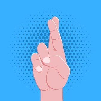 Symbolic hand fingers gesture