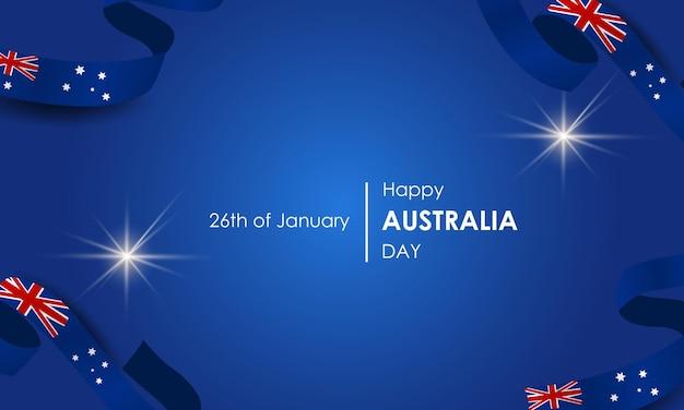 Символы и флаг австралии 26 января день австралии флаги воздушные шары и фейерверки