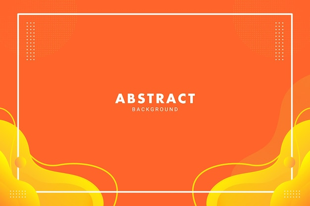 Symmetrical bright orange abstract liquid flow for brochure flyer banner background