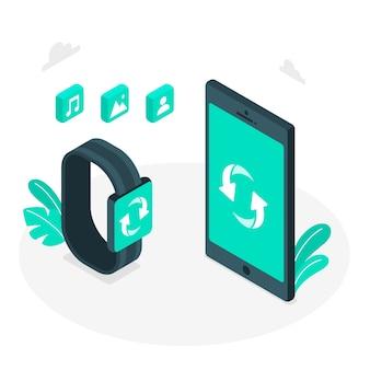 Sync concept illustration