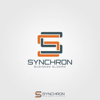 Synchron - monogram letter s logo