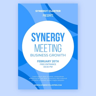 Synergy meeting poster template