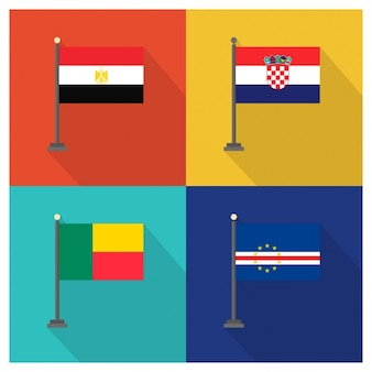 Syria croatia benin and cape verde flags