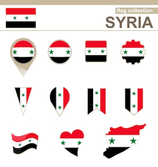 Syria flag collection, 12 versions