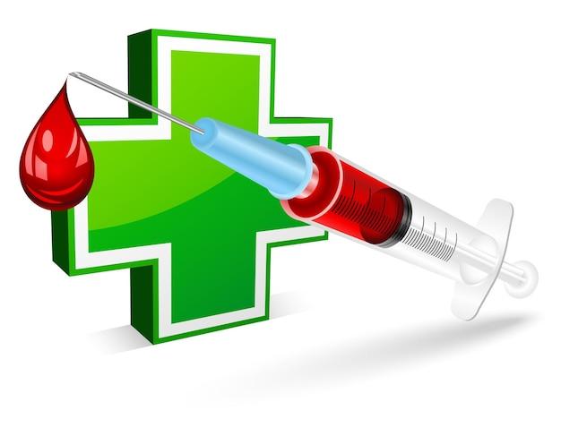 Syringe for a blood test