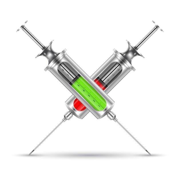 Syringe realistic style